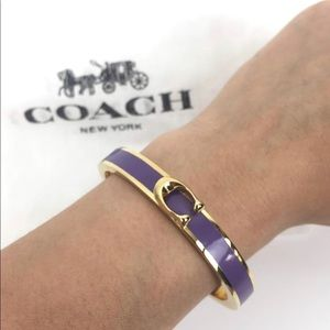 Coach purple bangle bracelet